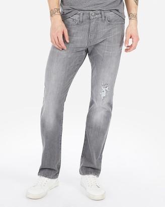 Express Slim Straight Gray Hyper Stretch Jeans