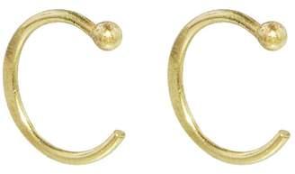 Melissa Joy Manning Hugger Hoop Earrings - Yellow Gold