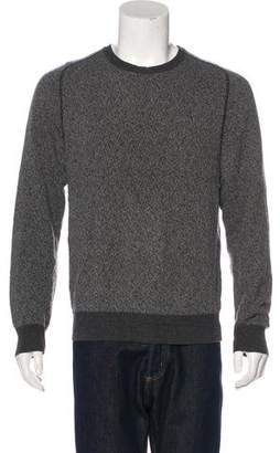 Calvin Klein Collection Crew Neck Rib Knit-Trimmed Sweater
