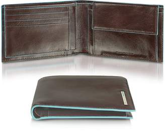 Piquadro Blue Square - Men's Leather Card Holder & ID Wallet