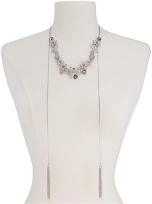 "INC International Concepts I.n.c. Stone Flower & Tassel 60"" Slider Necklace"