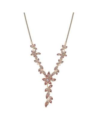 Jon Richard Mood By Mood Rose Gold Plated Pink Floral Lariat