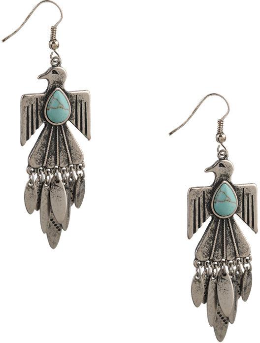Forever 21 Tribal Bird Earrings