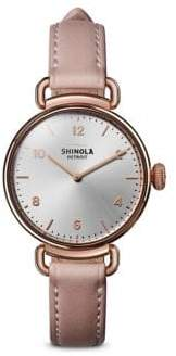 Shinola The Canfield Leather Strap Watch