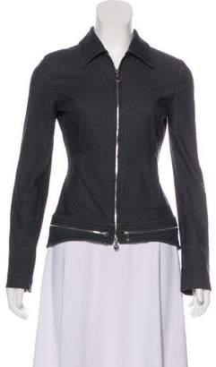 Versace Collared Zip-Up Jacket