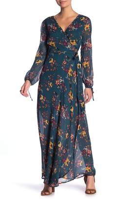 Band of Gypsies Jacey Wrap Printed Maxi Dress