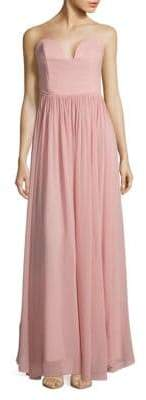 Nicole Miller Pointed Strapless Gown