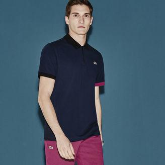 Men's Sport Lifestyle Zip Placket Superlight Tennis Polo Shirt $90 thestylecure.com