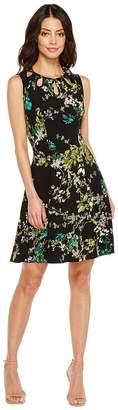 Christin Michaels Lillian Sleeveless Dress with Neckline Detail Women's Dress