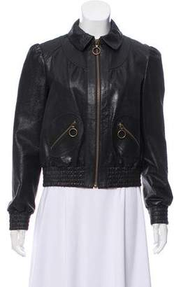 Philosophy di Lorenzo Serafini Leather Biker Jacket