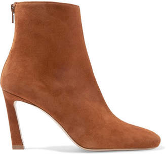 Stuart Weitzman Aster Suede Ankle Boots - Brown