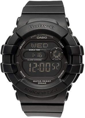 Baby-G Watch, Women's Digital Black Resin Strap 42x46mm BGD140-1A