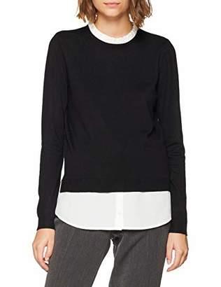 Pimkie Womens 403443 Round Collar Long Sleeve Jumper - Black - Medium