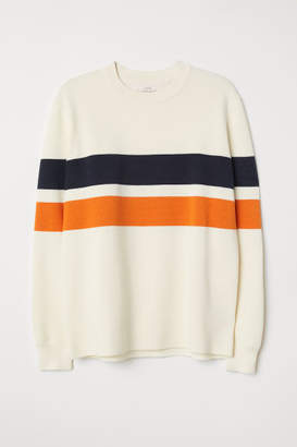 H&M Color-block Sweater - White