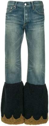 Tu Es Mon Trésor scalloped flared edge jeans