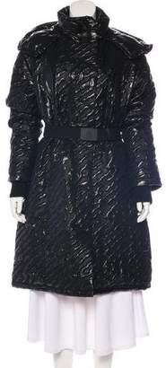 Moncler Textured Long Coat w/ Tags
