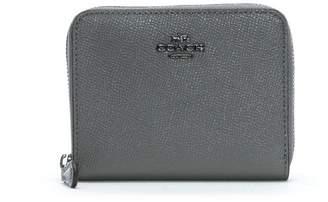 Coach Small Heather Grey Leather Zip Around Wallet
