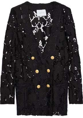Pierre Balmain Double-Breasted Guipure Lace Jacket