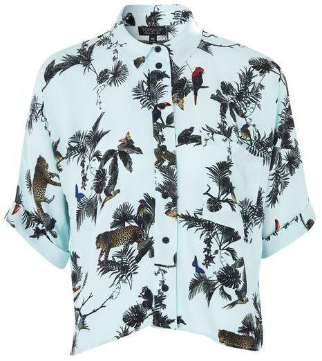 TopshopTopshop Short sleeve jungle print shirt