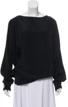 Thakoon Silk Dolman Sleeve Top