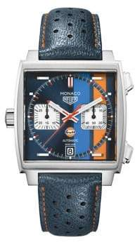 Tag Heuer Monaco Perforated Leather Automatic Chronograph Watch