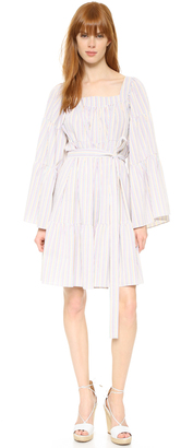 Lisa Marie Fernandez Short Peasant Dress $525 thestylecure.com
