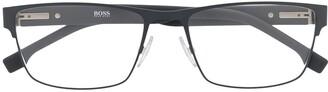 HUGO BOSS rectangular frame optical glasses