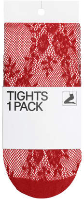 H&M Lace Tights - Red