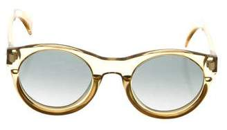 Christian Lacroix Round Gradient Sunglasses