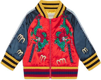 Baby bomber jacket with dragons $820 thestylecure.com