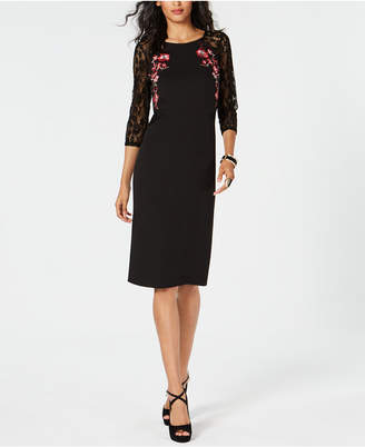 Thalia Sodi Embroidered Lace-Sleeve Dress
