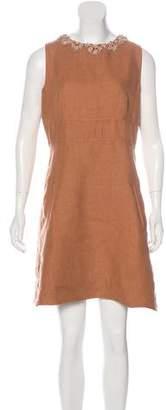 Valentino Embellished Linen Dress