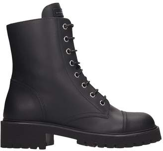Giuseppe Zanotti Cris High Combat Boots In Black Leather