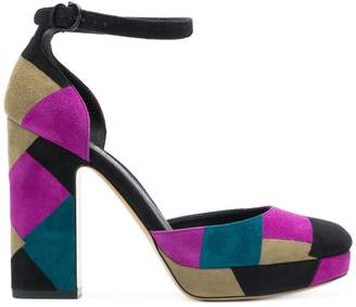 Salvatore Ferragamo patchwork pumps