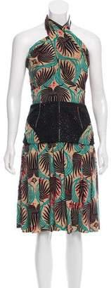 Sophie Theallet Floral Print Halter Dress