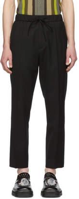 Cmmn Swdn Black Drawstring Stan Trousers