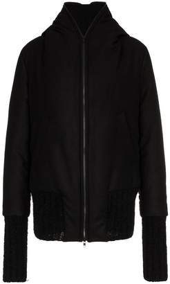Ann Demeulemeester oversized hooded jacket