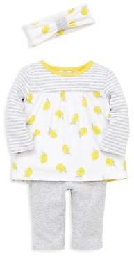 Little Me Girls' Lemon Tunic, Leggings & Headband Set - Baby