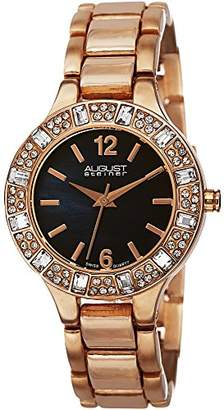 August Steiner Women's AS8135RGBU Swarovski Crystal-Accented Rose Gold-Tone Bracelet Watch