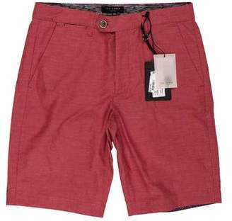 Ted Baker Flat Front Twill Shorts