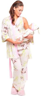 Olian 5-Piece Nursing PJ Set with Baby Outfit