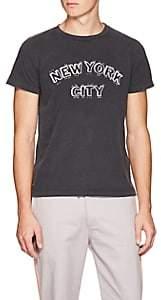 """Remi Relief Men's """"New York City"""" Cotton T-Shirt - Black"""