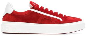 Salvatore Ferragamo contrast lace-up sneakers