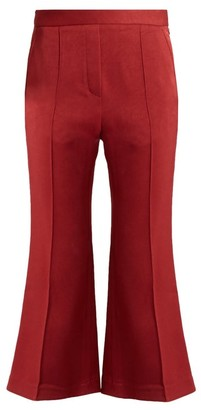 Ellery Bulgaria Flared Cady Trousers - Womens - Dark Red