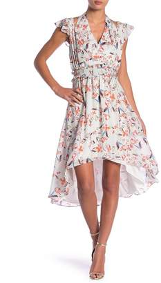 Adelyn Rae Tiffany Floral Print Hi-Lo Dress