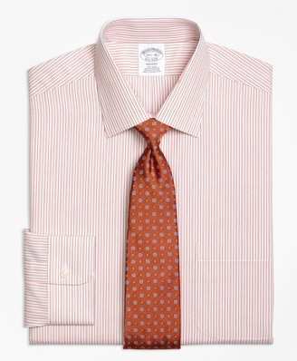 Brooks Brothers Regent Fitted Dress Shirt, Non-Iron Split Stripe