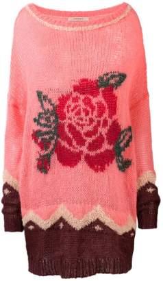 Twin-Set floral knit jumper
