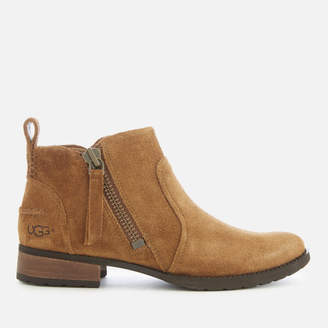 UGG Women's Aureo Suede Flat Ankle Boots - Chestnut
