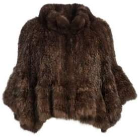 Manzoni 24 Knit Sable Fur Cape