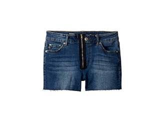 AG Adriano Goldschmied Kids The Bruna Fray Hem Zipper Shorts (Big Kids)